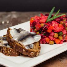 Salāti vinegrets. Klasiskā recepte ar fotoattēliem.